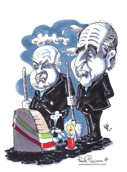 I due becchini della Nazionale italiana.